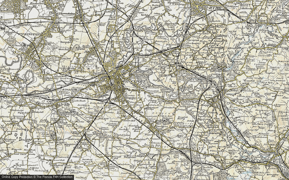 Old Map of Historic Map covering Woodbank Park in 1903