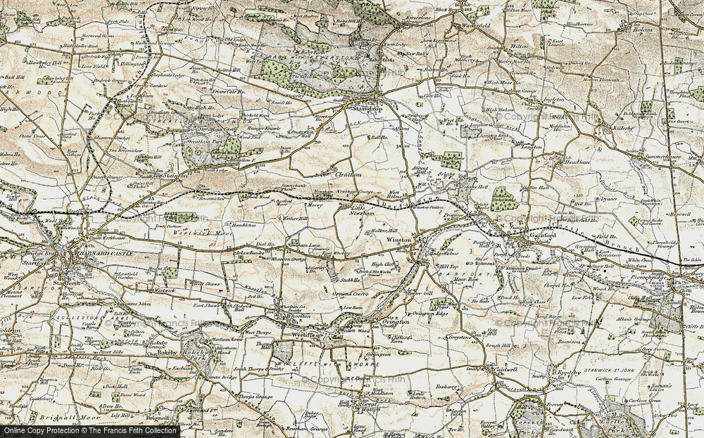 Old Map of Historic Map covering Westholme Hall in 1903-1904