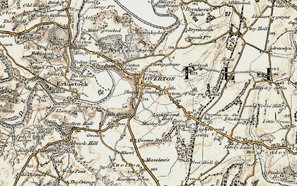 Old map of Argoed in 1902