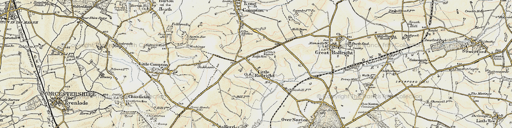 Old map of Whispering Knights in 1899