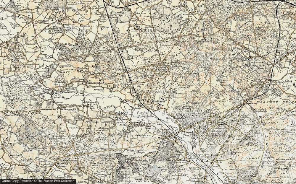 Old Map of Little Sandhurst, 1897-1909 in 1897-1909
