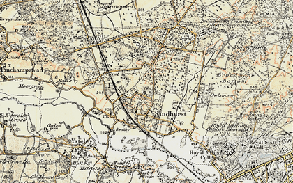 Old map of Wellington College in 1897-1909