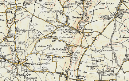 Old map of Little Sodbury in 1898-1899