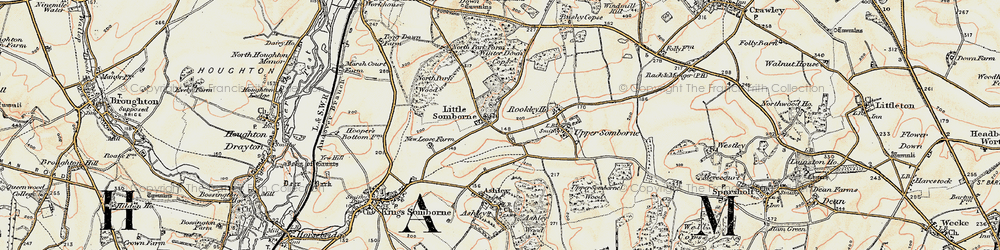 Old map of Winter Down Copse in 1897-1900