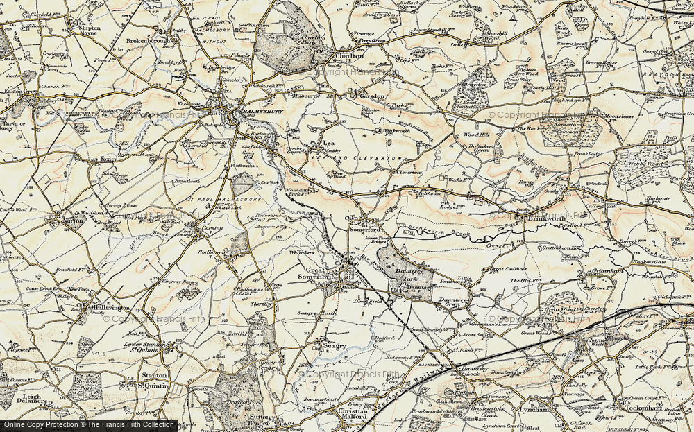 Old Map of Little Somerford, 1898-1899 in 1898-1899