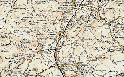 Old map of Ashes Hollow in 1902-1903