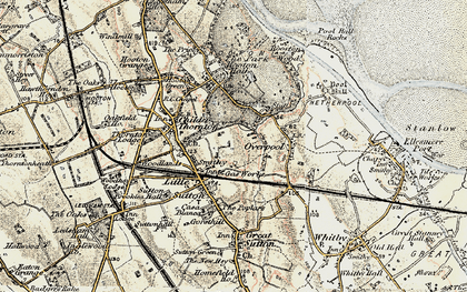 Old map of Little Sutton in 1902-1903