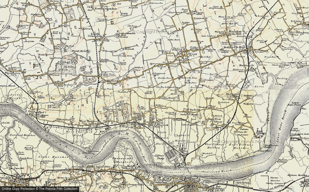 Old Map of Little Thurrock, 1897-1898 in 1897-1898