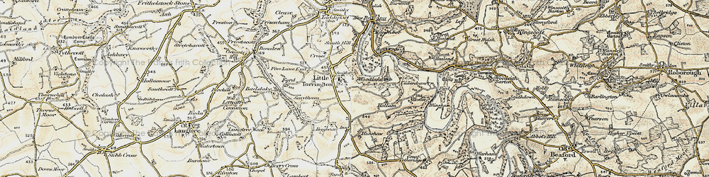 Old map of Woodlands in 1900