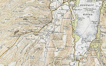 Old map of Aikin Knott in 1901-1904