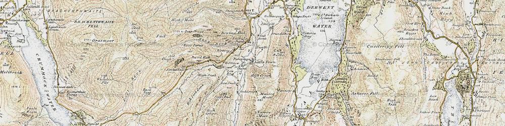 Old map of Aikin Knott in 1901-1904