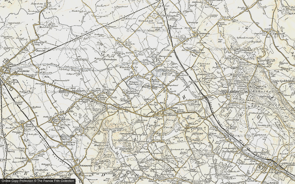 Old Map of Little Tring, 1898 in 1898