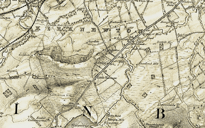 Old map of Ainville in 1904