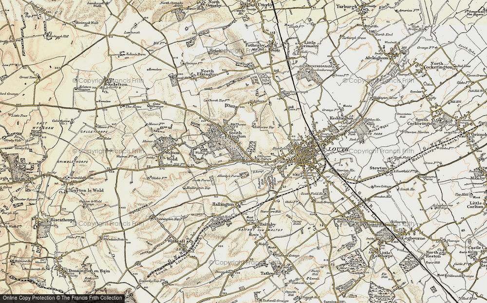Old Map of Historic Map covering Acthorpe Top in 1903