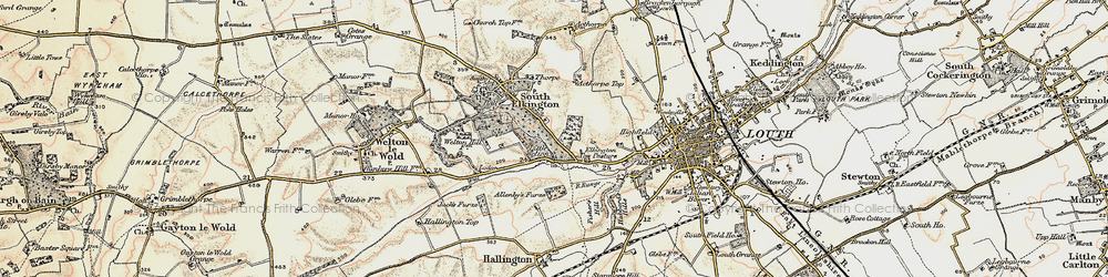 Old map of Acthorpe Top in 1903