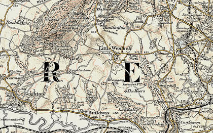 Old map of Little Wenlock in 1902