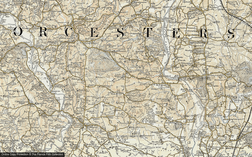 Old Map of Little Witley, 1899-1902 in 1899-1902