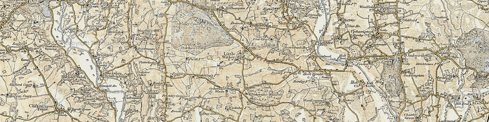 Old map of Little Witley in 1899-1902
