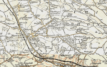 Old map of White's Wood in 1897-1898