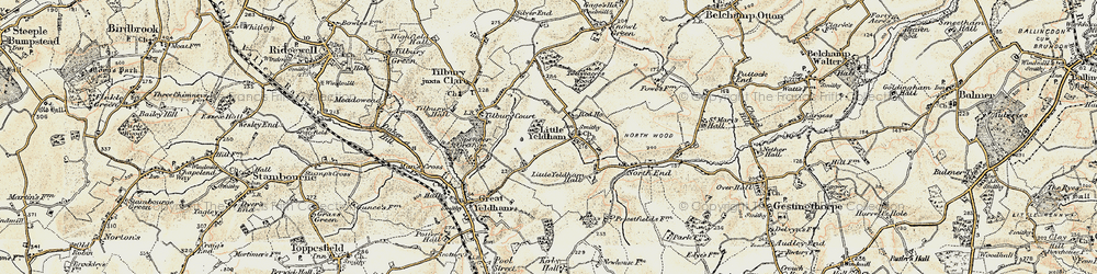 Old map of Tilbury Court in 1898-1901