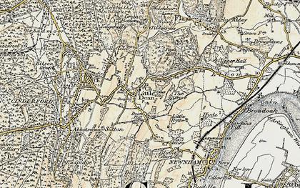 Old map of Littledean in 1899-1900