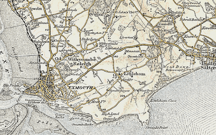 Old map of Littleham in 1899