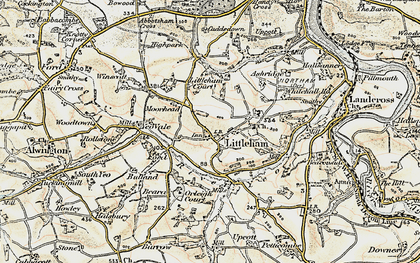 Old map of Littleham Court in 1900
