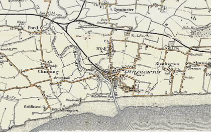 Old map of Littlehampton in 1897-1899