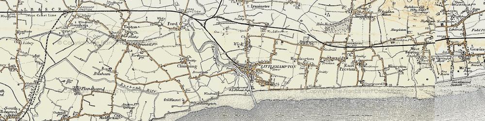 Old map of Littlehampton in 1897-1899