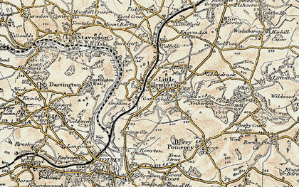 Old map of Littlehempston in 1899