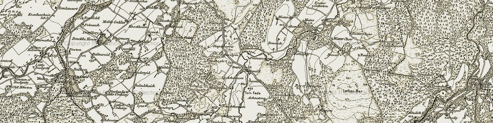 Old map of Wester Clune in 1910-1911