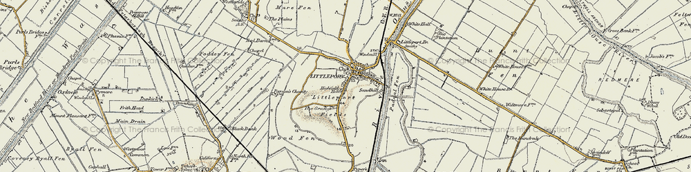 Old map of Wood Fen in 1901