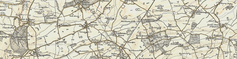 Old map of Littleton Drew in 1898-1899