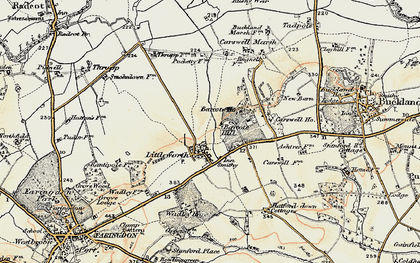 Old map of Barcote Barn in 1897-1899