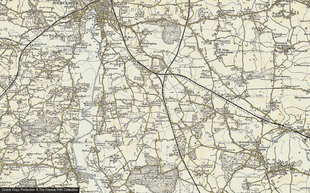 Old Map of Historic Map covering Abbotswood in 1899-1901
