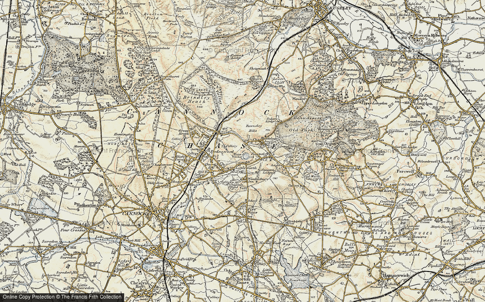 Old Map of Littleworth, 1902 in 1902