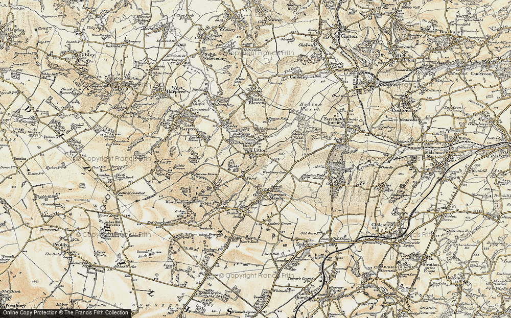 Old Map of Litton, 1899 in 1899