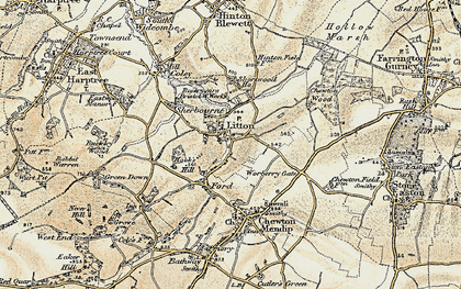 Old map of Litton in 1899