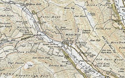 Old map of Ackerley Moor in 1903-1904