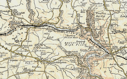 Old map of Litton Mill in 1902-1903