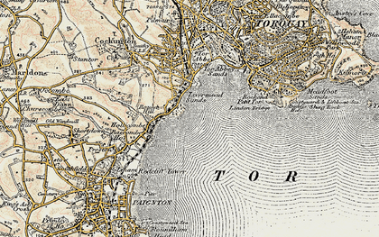 Old map of Torre Abbey in 1899