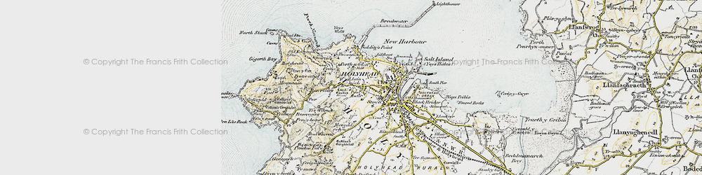 Old map of Ynys Wellt in 1903-1910