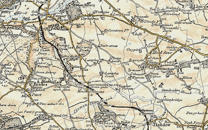 Old map of Afon Alun in 1899-1900