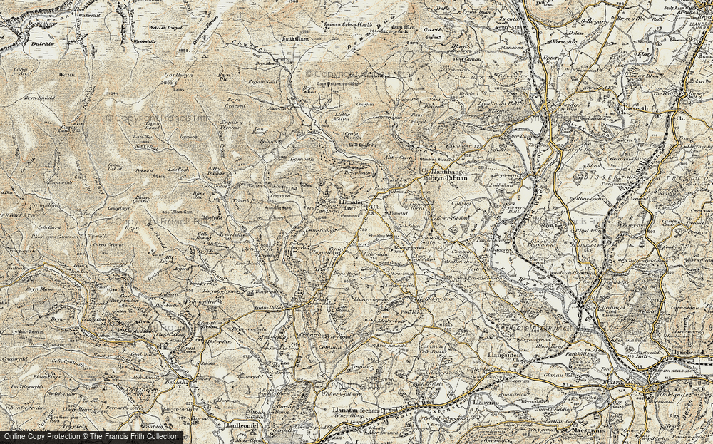 Old Map of Historic Map covering Allt y Clych in 1900-1903