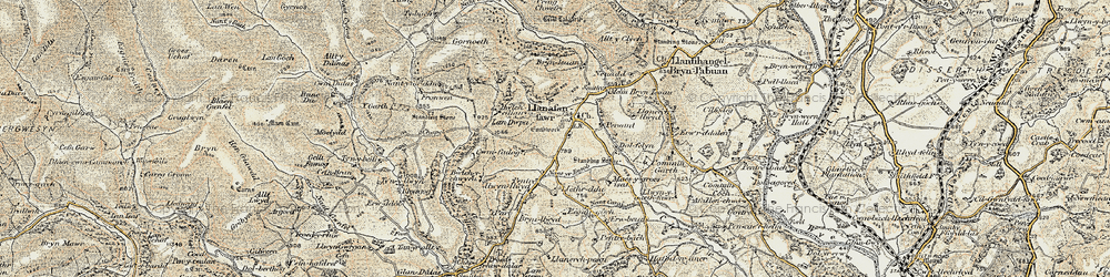 Old map of Allt y Clych in 1900-1903
