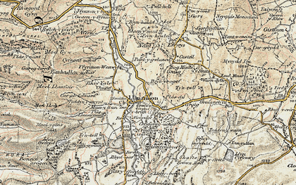 Old map of Llanarmon-yn-Ial in 1902-1903
