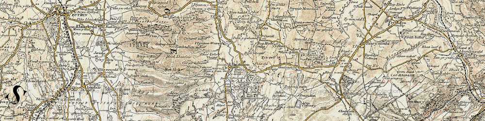 Old map of Tomen y Faerdre in 1902-1903