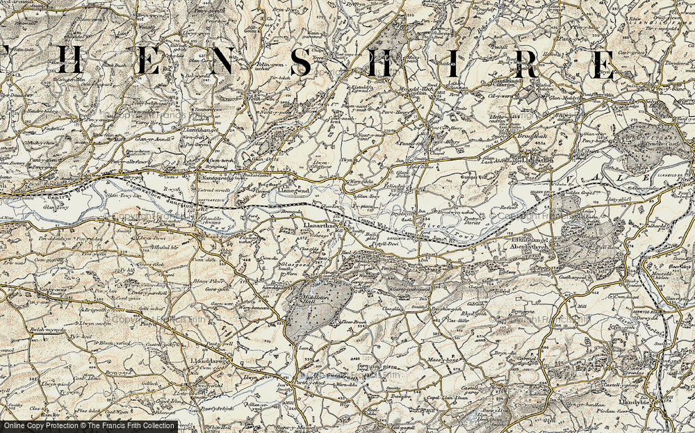 Old Map of Llanarthne, 1900-1901 in 1900-1901