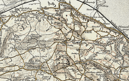 Old map of Llanasa in 1902