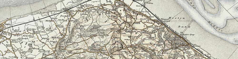 Old map of Llanasa in 1902